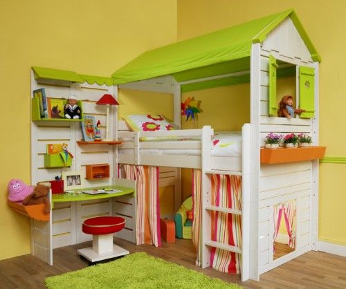 cabane-lit -bureau                                                                                                                                                     Plus