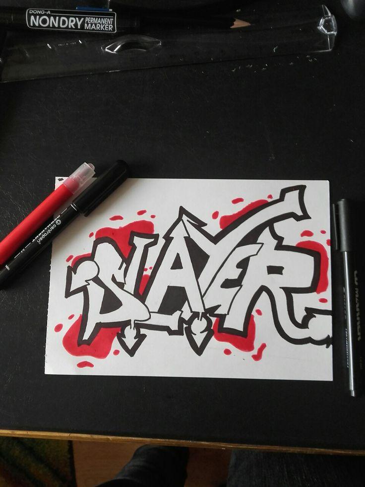 Slayer rysunek graffiti