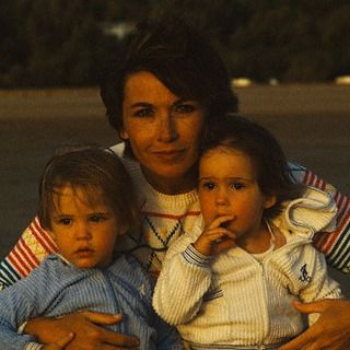 Eva Green and her twin sister with their mother, Marlène Jobert
