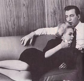 An intimate moment between Bobby Darin and Sandra Dee. Image comes from: http://classicforever.blogspot.com/2011/02/wallowing-in-adorableness-bobby-darin.html