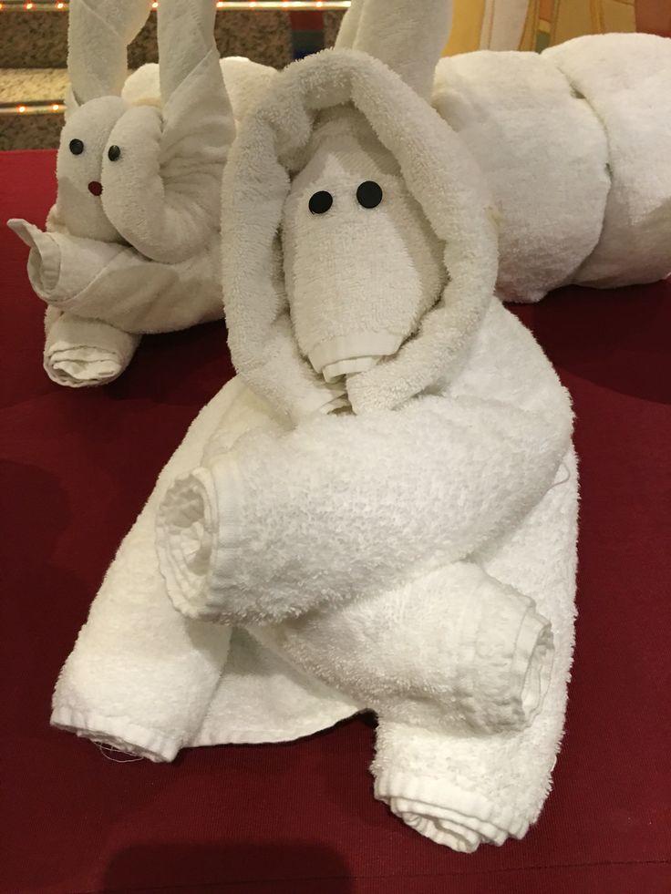 More towel folding animal creations