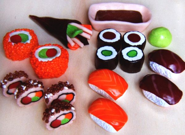 .:* L - Adorable Fimo Sushi by QueEnOfNights