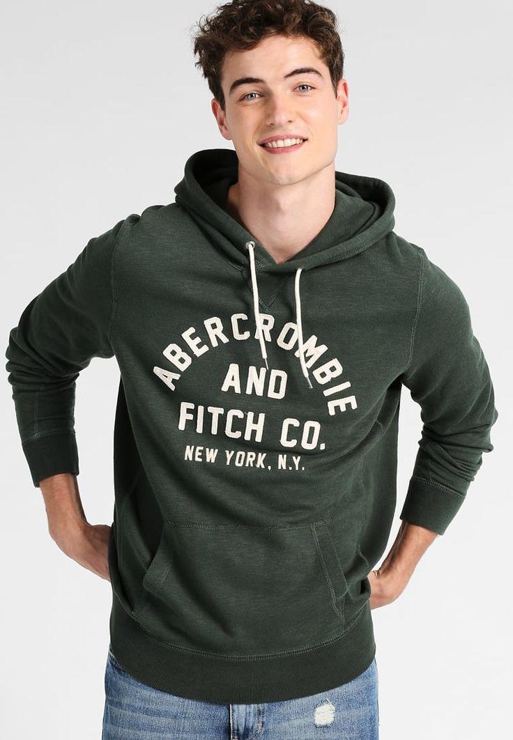 Abercrombie & Fitch BASIC LOGO - Genser - green - Zalando.no