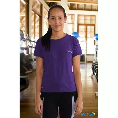 Camiseta Esportiva Feminina Anti-bactéria E Proteção Solar - R$ 54,95