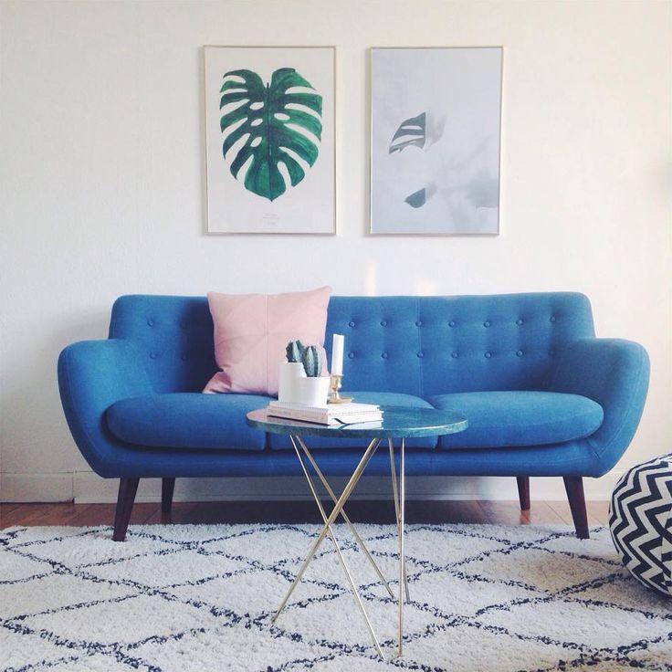 Blå skønhed hos @ditteblog Anne sofa <3