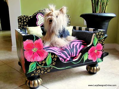 10 Days Left to Save $100 on All Hand Painted Dog Beds Sale... Cha Ching! Sale is through August 31, 2013