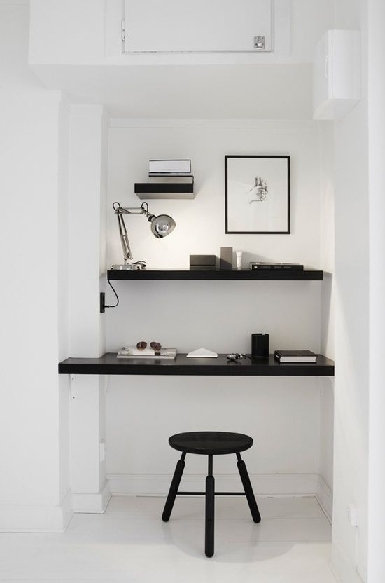 Keep it simple - if you have just a tiny place for your home office #homeoffice #office #diyoffice
