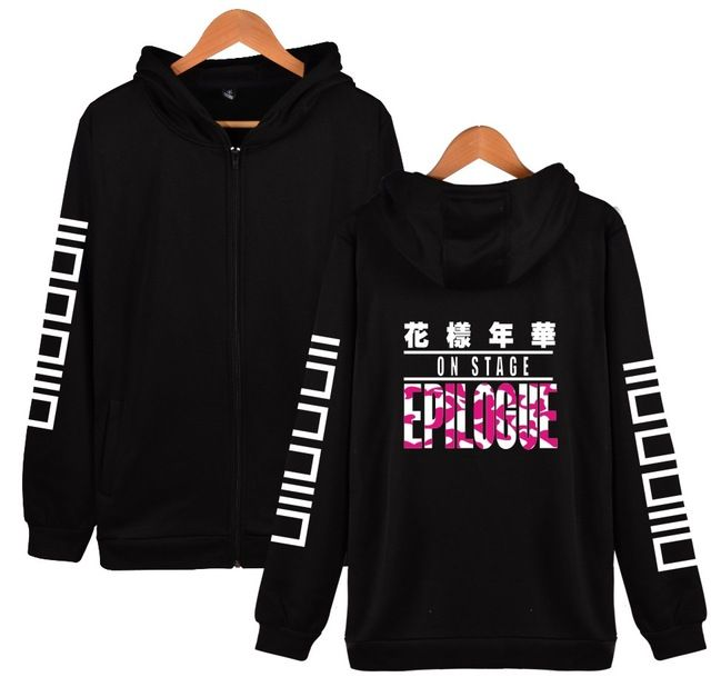 f164b6c0c6dc2 LUCKYFRIDAYF BTS K-pop Hooded Women Hoodies Zipper Korean Bangtan Hip Hop  Winter Sweatshirt Women Cotton Casual Funny Clothe (Copy)