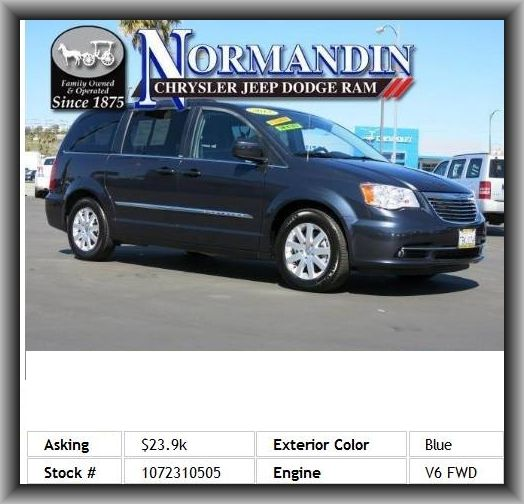 2013 chrysler town and country touring mini van tire pressure monitoring system dvd audio. Black Bedroom Furniture Sets. Home Design Ideas