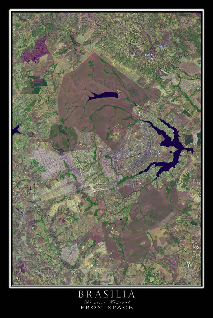 Map Of Paisley%0A Brasilia Brazil Satellite Poster Map