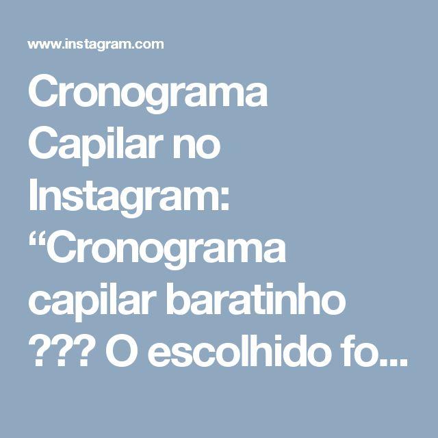 """Cronograma Capilar no Instagram: """"Cronograma capilar baratinho 💪🎀🌸 O escolhido foi o Creme Multifuncional Yamasterol, acho que muita gente conhece, já usou ou viu no…"""""""