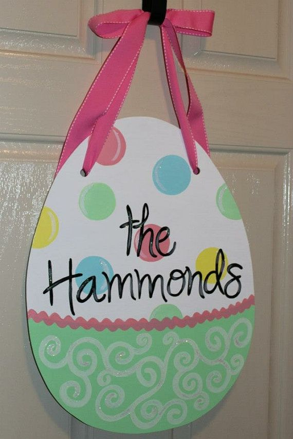 Hey, I found this really awesome Etsy listing at http://www.etsy.com/listing/175475787/easter-egg-sign-hanger-personalized