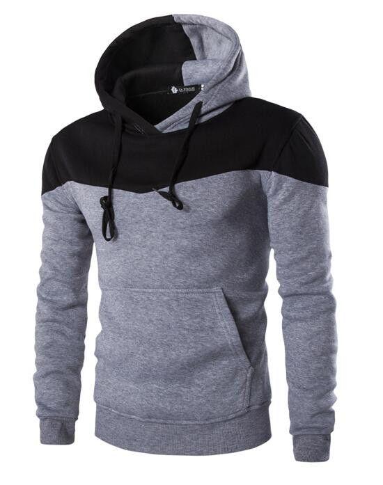 2016 Hoodies Men Sudaderas Hombre Hip Hop Mens Brand Hoodie Decorative Pocket Sweatshirt Sport Suit Slim Fit Men Hoody XXL YDOAA