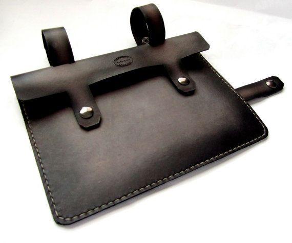 black and grey leather bike frame bag by sanfilippoleather 85 on etsy i asked