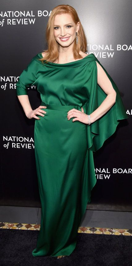 Jessica Chastain at the 2015 National Board Of Review Gala in Carl Kapp V
