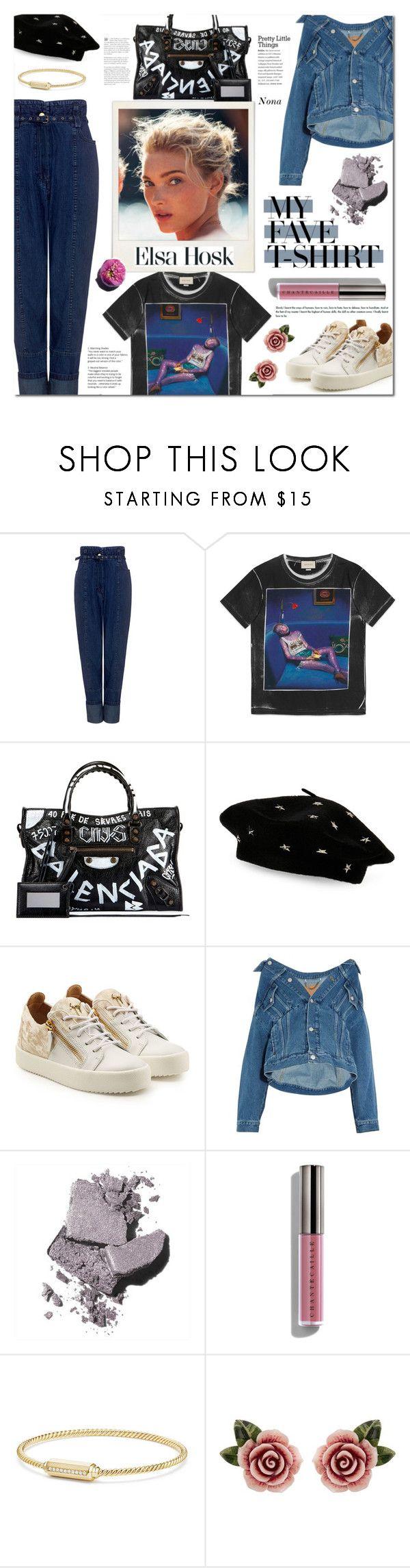 """Dress Up a T-Shirt"" by delunaray ❤ liked on Polyvore featuring Rachel Comey, Gucci, Balenciaga, Steve Madden, Giuseppe Zanotti, Bobbi Brown Cosmetics, Chantecaille, David Yurman, Dolce&Gabbana and contestentry"