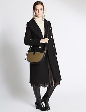 Faux Leather Casual Saddle Bag