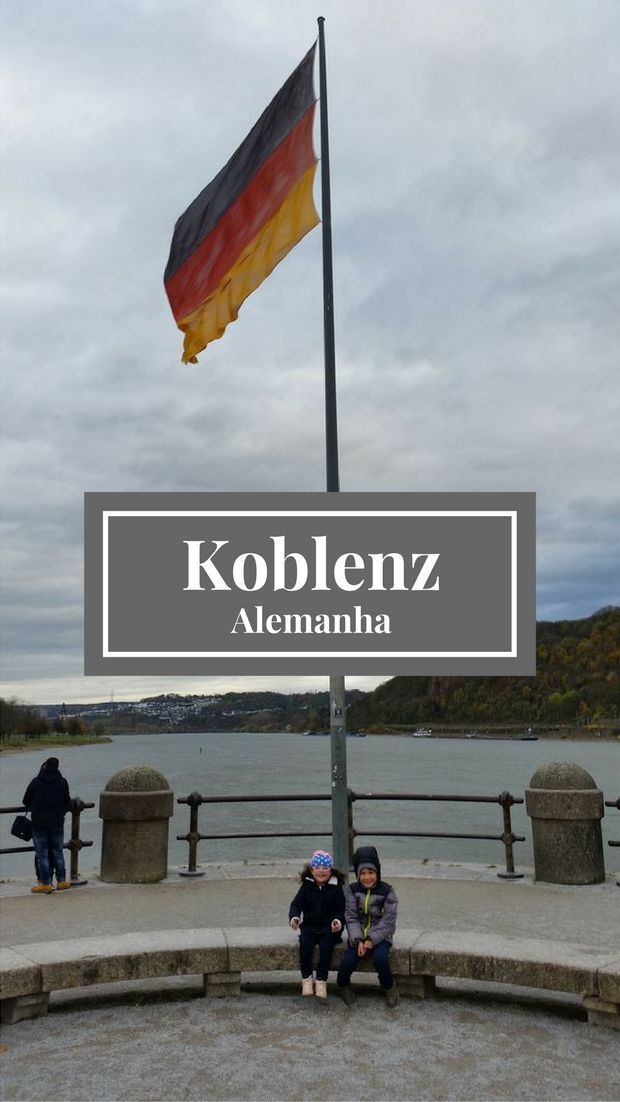 Viagem para Koblenz na Alemanha no encontro dos rios Reno e Mosel, para visitar seus pontos turísticos  (Kurfürstliches Schloss, Seilbahn Koblenz, Festung Ehrenbreitstein, Deutsches Eck, estátua de Kaiser Wilhelm I e Schängelbrunnen) e Mercado de Natal.