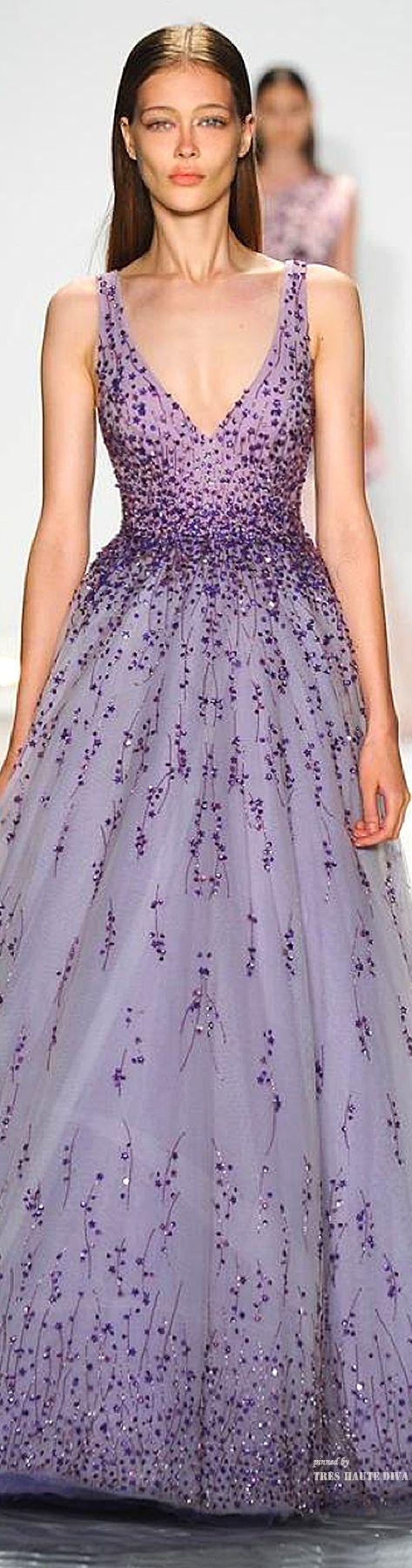 Gorgeous dress for Lavender theme wedding reception. NYFW Monique L'huillier Spring 2015 RTW