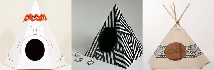 ¿A tu gato le gusta meterse en las cajas de cartón? 2 casetas diseñadas en forma de tienda india y pirámide para gatos. Un gato viviendo dentro de un tipi?