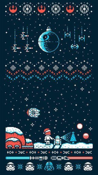 [クリスマス]スター・ウォーズ&クリスマスiPhone壁紙 iPhone 5/5S 6/6S PLUS SE Wallpaper Background