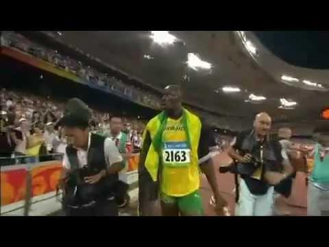 Video: Usain Bolt 100m record run London Olympics 2012 www.joggingtoloseweight.org/olympics-star-usain-bolt/