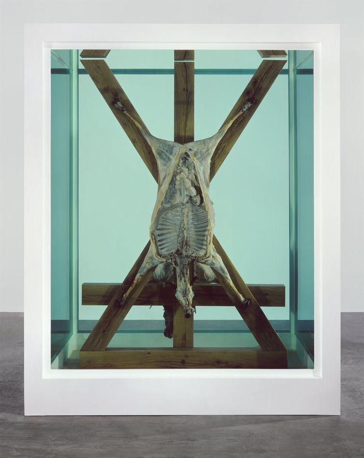 Damien Hirst mouton formol aquarium