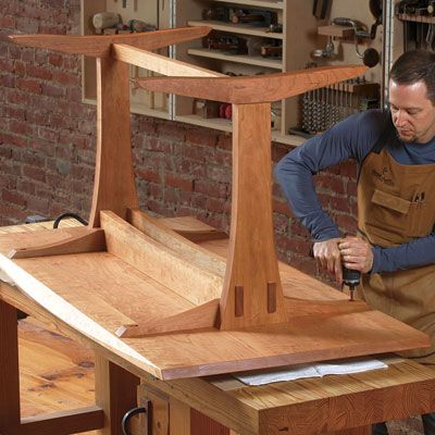 A Trestle Table with Modern Appeal