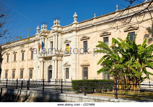 Universidad de Sevilla (Old Tobacco Factory), Andalusia, Spain, Europe - Stock Image