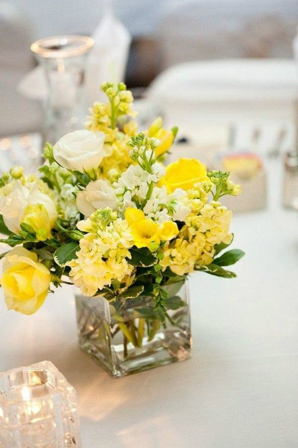 Arranjos De Flores Amarelas Para Casamento Em 2020 Centros De