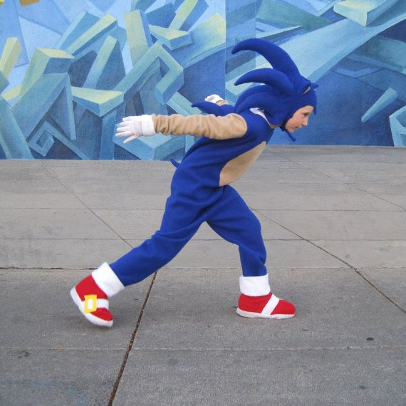 Sonic The Hedgehog inspired boys costume sizes by FishbynClothing, $215.00