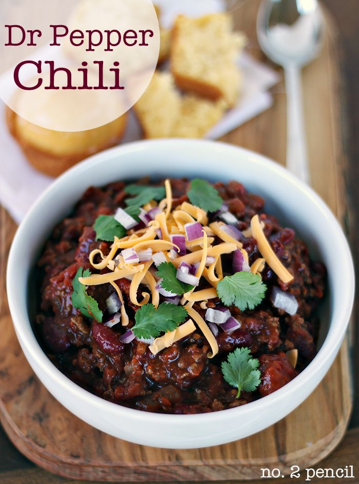 Dr Pepper Chili, perfectly sweet and spicy!