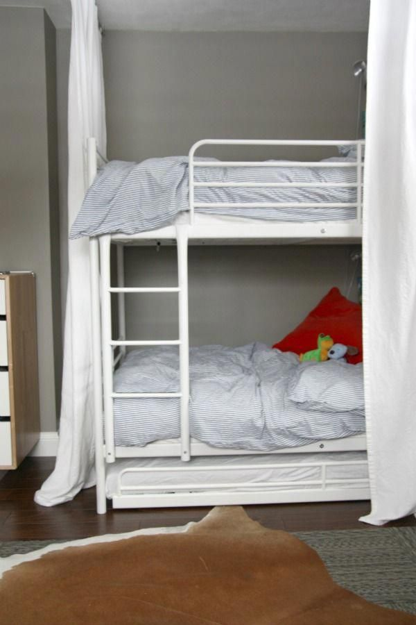 Ikea Svarta Bunk Beds With Trundle Can Sleep Three Kids