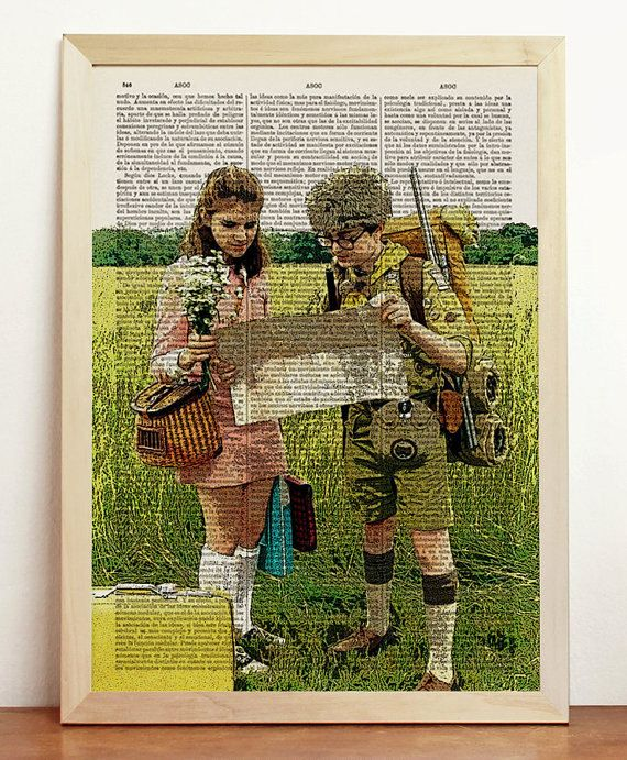 Moonrise Kingdom Print Wes Anderson Movie Poster Film Sam Suzy