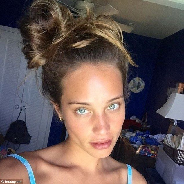 All natural: Sports Illustrated model Hannah Davis, 25, says she never edits her selfies on Instagram in a candid new interview in which she claims she hates social media