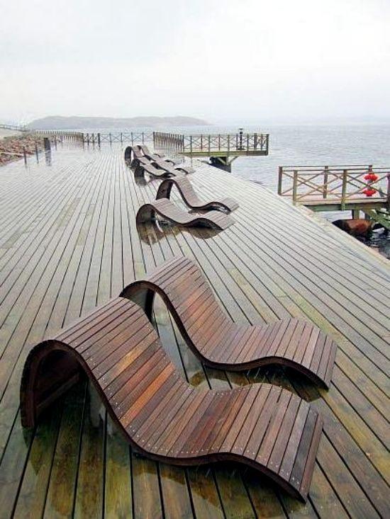 7 ultra-modernes conceptions de chaise longue en bois pour l'extérieur