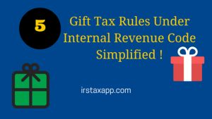 Gift Tax Under Internal Revenue Code : 5 Most Important Points Everyone Should Know - http://irstaxapp.com/gift-tax-under-internal-revenue-code-5-most-important-points-everyone-should-know/