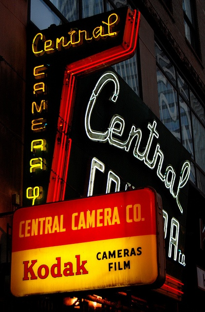 A sign you're in Chicago? Central Camera Company, Chicago's oldest camera store, est.  1899 (Chicago Pin of the Day, 9/17/2014).