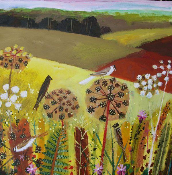 Mary Sumner - champs, fleurs en ombelles et oiseaux qui chantent