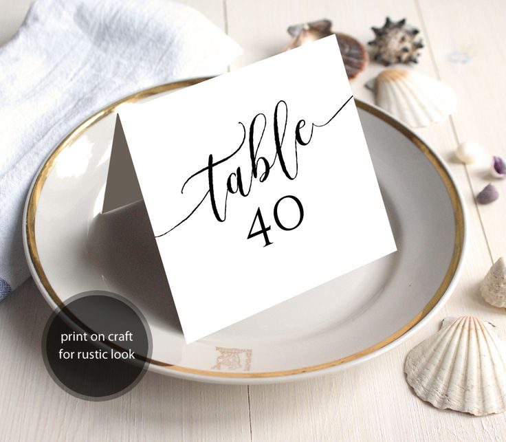 PDF Wedding 1-40 Table Numbers 5x5 Head Table Tented Folded style Rustic Table Number INSTANT DOWNLOAD Wedding calligraphy Printable by DreamPrintable on Etsy