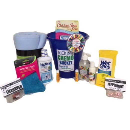 Cancer Patient Gift and Chemotherapy Gift Basket-Kicking Chemo Bucket