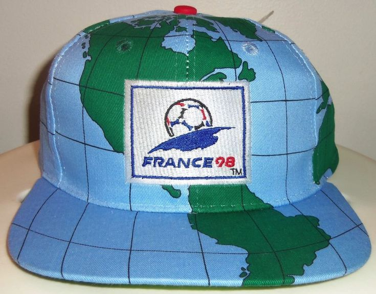 NEW VINTAGE 90's FRANCE 98 WORLD CUP GLOBE MAP SOCCER FIFA SNAPBACK CAP HAT RARE  | eBay