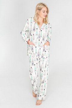 14698b72dafff4 Sip, Sip Horray! Flannel PJ Set - P.J. Salvage, champagne pajama set ...