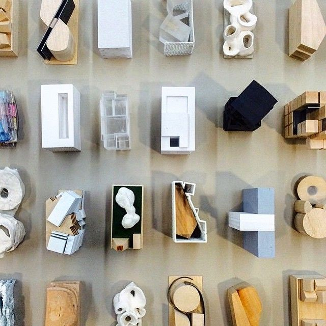 An endless collection of new ideas and models exhibited @schoolofarchitecture