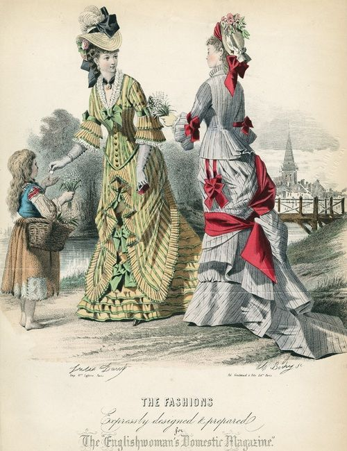 June fashions, 1876 England, The Englishwoman's Domestic Magazine