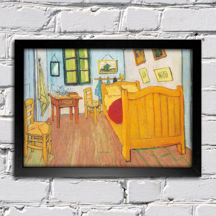 Van Gogh - Quarto em Arles — Encadreé Posters #quadro #decorativo #poster #arte #pintura