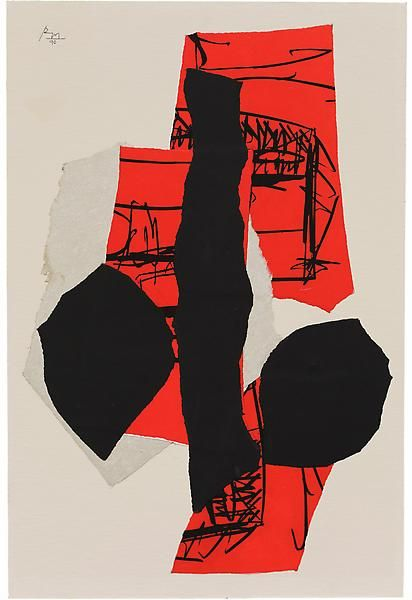 Robert Motherwell - Delos, 1990 - good way to experiment with abstract, mixed media and paint