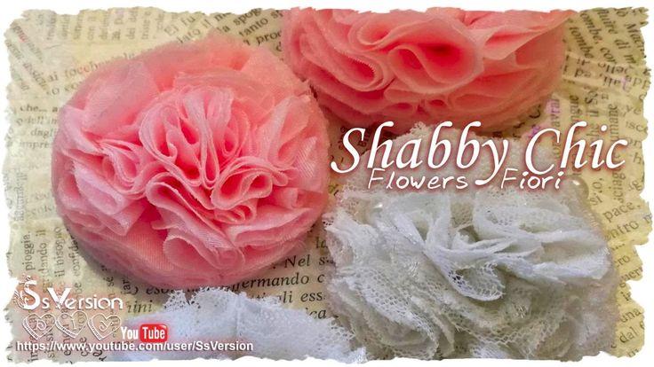 Tutorial: Fiori Shabby Chic con tulle e pizzo | DIY Flowers
