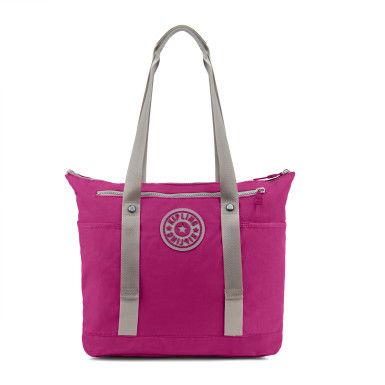 Our newest gym tote is crafted with your work-out must haves in mind. Front straps hold your yoga mat in place, side pockets store shoes or a water bottle and interior clear pouch is great for separating your change of clothes from your wet swimsuit