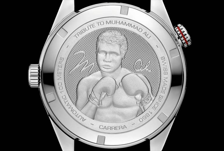 "TAG Heuer - Carrera Calibre 5 ""Ring Master"". TAG Heuer unveiled a Special Edition of its Carrera Calibre 5 as a tribute to boxing legend Muhammad Ali. The new TAG Heuer Carrera Calibre 5 ""Ring Master"" Tribute to Muhammad Ali was inspired by the famous Heuer Ring-Master watch currently on display in the TAG Heuer museum. The new TAG Heuer Carrera Calibre 5 ""Ring Master"" Tribute to Muhammad Ali (Ref. WAR2A11.FC6337) has a price of US$ 3,000."